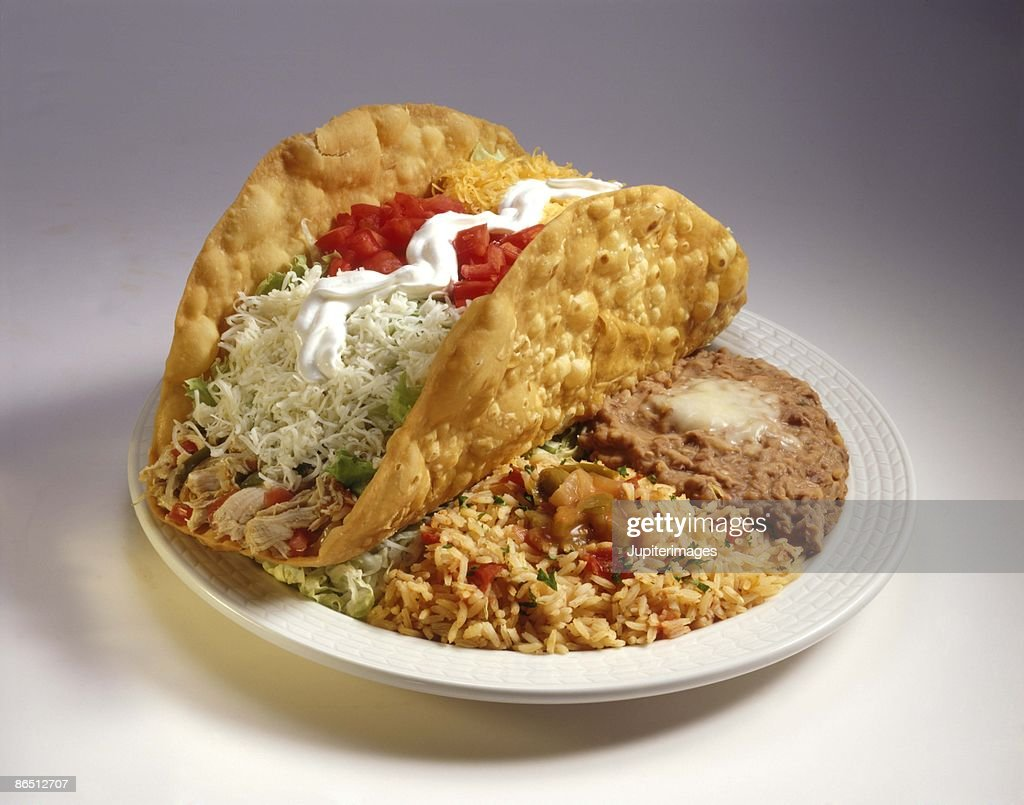 Large taco entree : Stock Photo