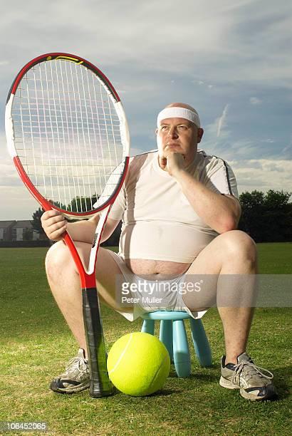 Large tennis player portrait