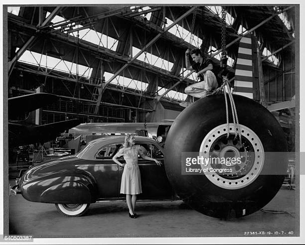 A large tire 96 inches in diameter and weighting 2700 pounds with the wheel and brake will be installed on the Guardian of Hemisphere B19 bomber