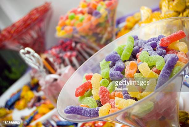 A large variety of colorful candy