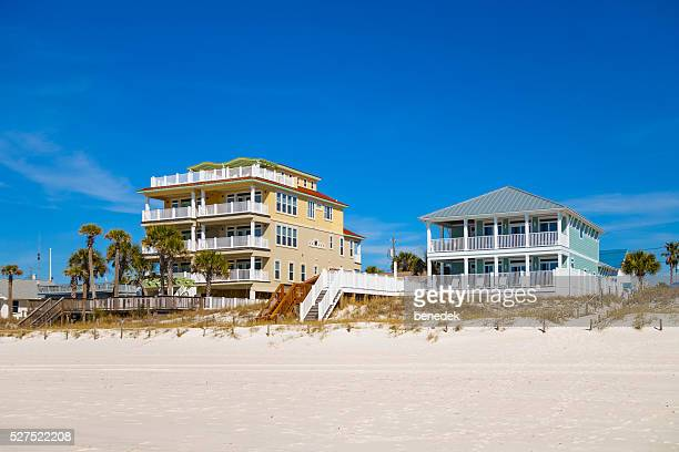 large villas in panama city beach florida usa - panama city beach stock pictures, royalty-free photos & images