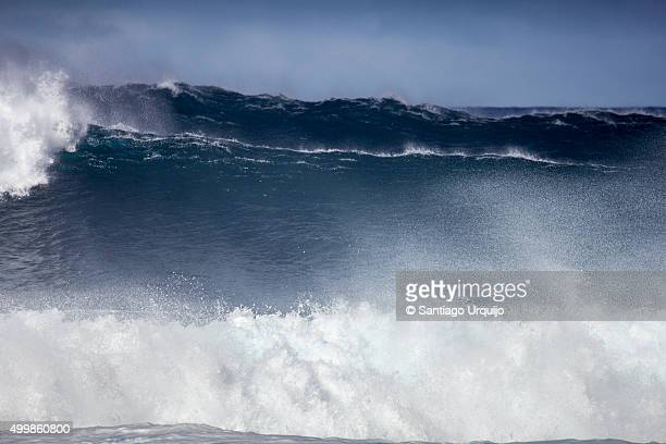 Large waves crashing in the north coast of Tenerife