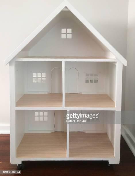large white dollhouse back - rafael ben ari stock-fotos und bilder