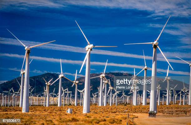 Large Wind Turbines In The California Desert