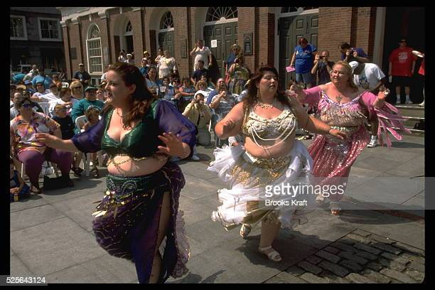 Large women belly dancing at the National Association to Advance Fat Acceptance convention in Boston Massachusetts The NAAFA is a not for profit...