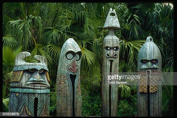 Large Wood Carvings at Epcot Center