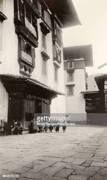 Larger Central Tower at Paro Jong Built in 1646 the 'Paro Dzong' stands in the beautiful Paro Valley on the foundations of an old monastery This...