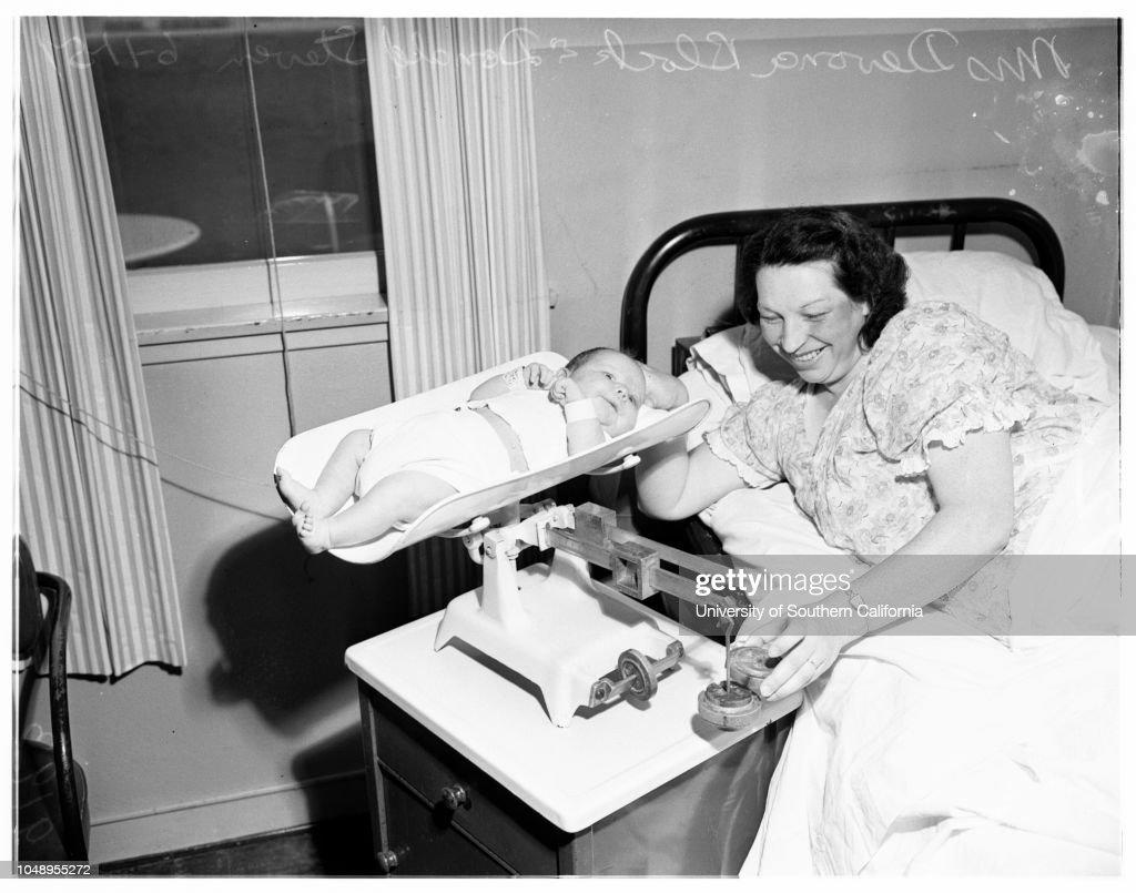 largest baby in maywood hospital june 11 1951 donald steven block