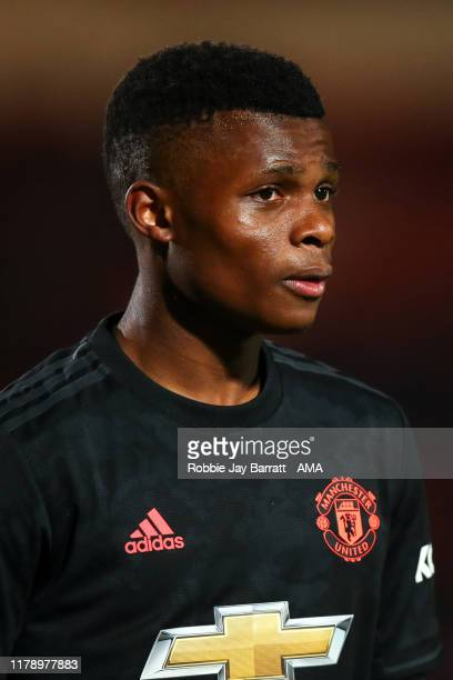 Largie Ramazani of Manchester United U21 during the Leasingcom Trophy match fixture between Doncaster Rovers and Manchester United U21's at Keepmoat...