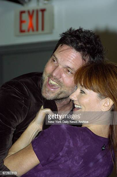 Lari White and Jeb Brown rehearse for the new Broadway production of 'Ring of Fire' a musical based on the songs of Johnny Cash that will be opening...