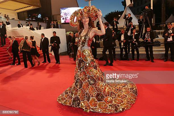 Larisa Katz attends The Salesman Premiere during the 69th annual Cannes Film Festival at the Palais des Festivals on May 21 2016 in Cannes France