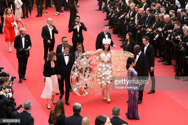 Larisa Katz attends the screening of 'Dogman' during the 71st annual Cannes Film Festival at Palais des Festivals on May 16 2018 in Cannes France
