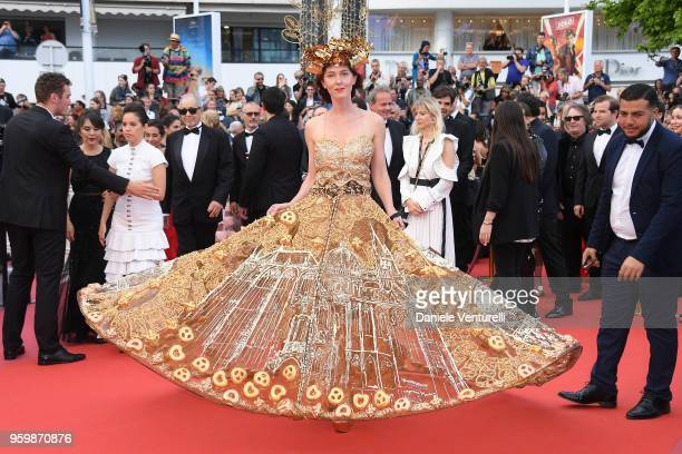 Larisa Katz attends the screening of The Wild Pear Tree during the 71st annual Cannes Film Festival at Palais des Festivals on May 18 2018 in Cannes...