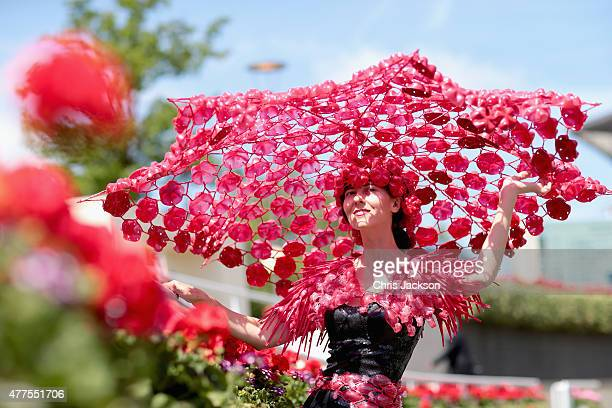 Larisa Katz poses for a photograph on Ladies Day on day 3 of Royal Ascot at Ascot Racecourse on June 18 2015 in Ascot England