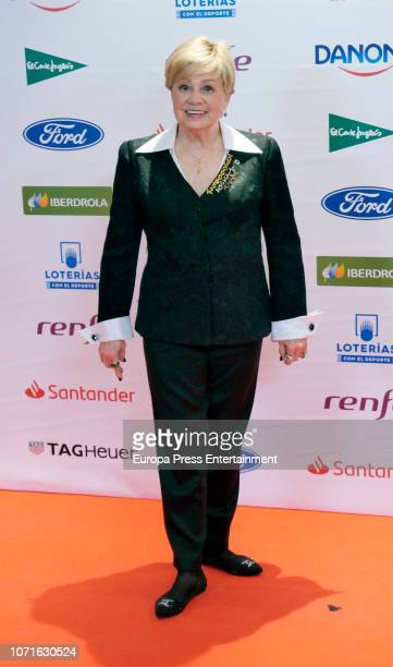 Larisa Latynina attends the 'As Del Deporte' awards at Palace hotel on December 10 2018 in Madrid Spain