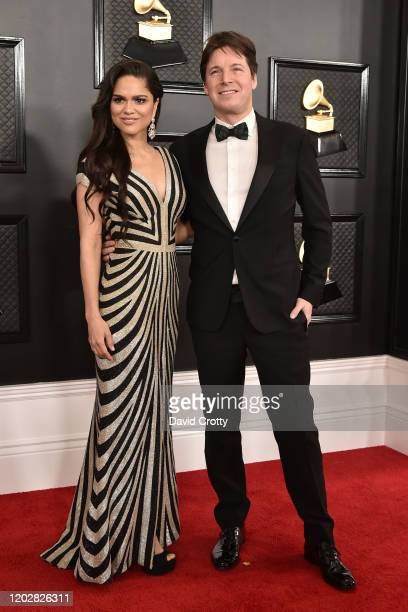 Larisa Martinez and Joshua Bell attend the 62nd Annual Grammy Awards at Staples Center on January 26 2020 in Los Angeles CA