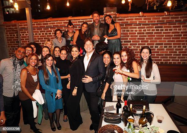Larisa Martínez Joshua Bell and Gerard Butler pose with members of The Chamber Orchestra of Havana at The Season Of Cuba with Joshua Bell and The...