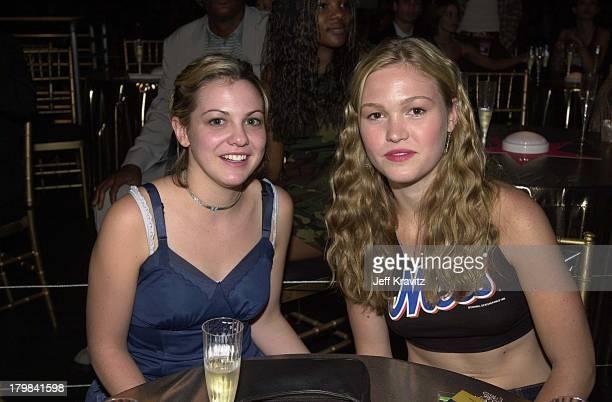 Larisa Oleynik and Julia Stiles during 2001 MTV Movie Awards Backstage in Los Angeles California United States