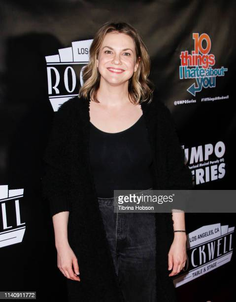Larisa Oleynik attends the unauthorized musical parody of '10 Things I Hate About You' at Rockwell Table and Stage on April 06 2019 in Los Angeles...