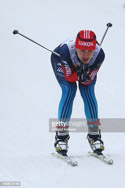 Larisa Shaidurova of Russia competes in the Women's Prologue 3km free individual at the Viessmann FIS Cross Country World Cup event at DKB Ski Arena...