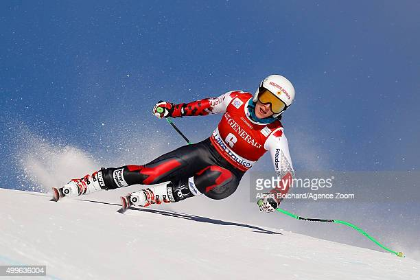 Larisa Yurkiw of Canada competes during the Audi FIS Alpine Ski World Cup Womenâs Downhill Training on December 02 2015 in Lake Louise Canada