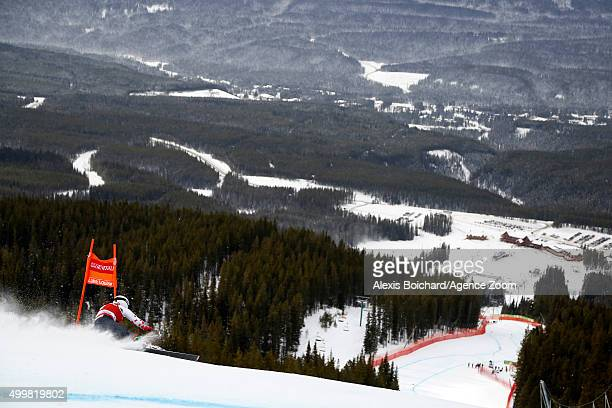 Larisa Yurkiw of Canada competes during the Audi FIS Alpine Ski World Cup Womenâs Downhill Training on December 03 2015 in Lake Louise Canada