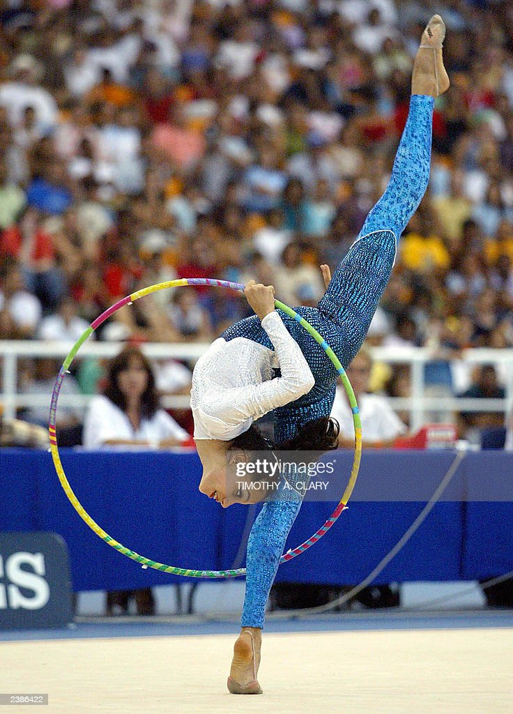 Larissa Barata of Brazil performs her ro : News Photo