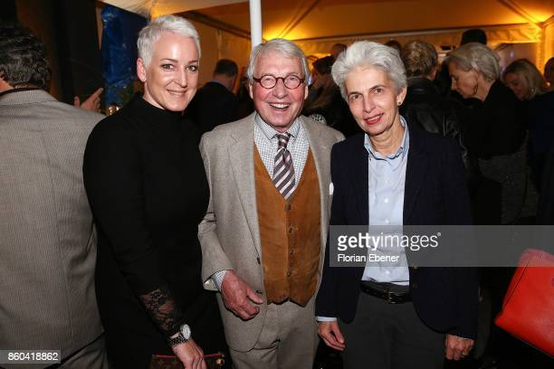 Larissa Beuleke Horst StrackZimmermann and MarieAgnes StrackZimmermann attend the Housewarming Party at Andreas Quartier GmbH on October 11 2017 in...