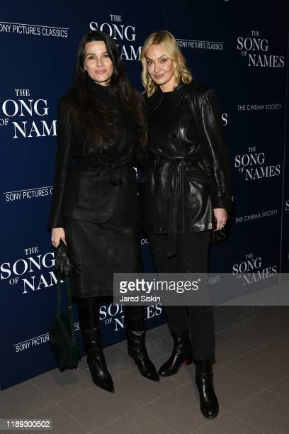 Larissa Bond and Nelly Pakh attend Sony Pictures Classics And The Cinema Society Host A Special Screening Of The Song Of Nameson November 21 2019 in...