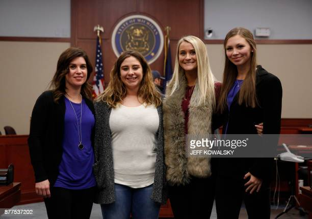 Larissa Boyce Alexis Alvarado Christine Harrison and Jessica Smith who were victimized by former Michigan State University and USA Gymnastics doctor...