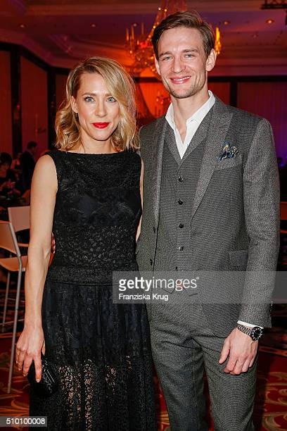 Larissa Duken and August Wittgenstein attend the Medienboard BerlinBrandenburg Reception on February 13 2016