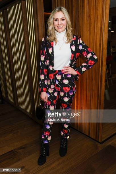 Larissa Eddie attends the Kolchagov Barba show during London Fashion Week February 2020 at Melia White House Hotel on February 16 2020 in London...