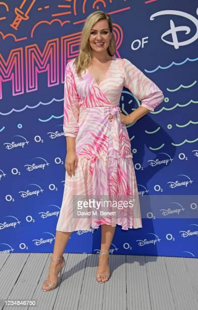 Larissa Eddie attends the Summer of Disney+ event at Pergola Paddington on August 24, 2021 in London, England.