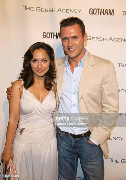 Larissa Gomes and Jason O'Mara during The Gersh Agency and Gotham Magazine Celebrate 2005 New York UpFronts at Bed in New York City New York United...