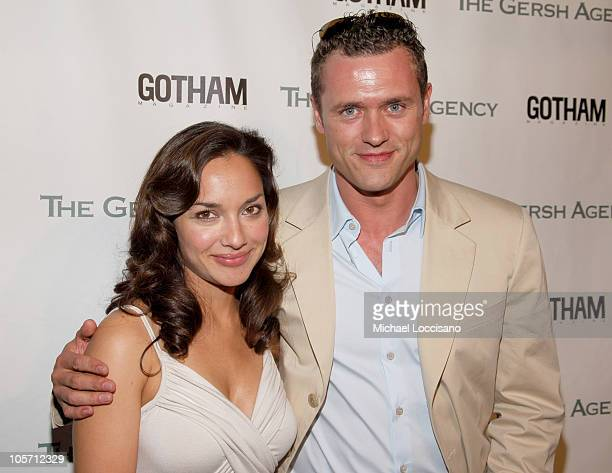 Larissa Gomes and Jason O'Mara during The Gersh Agency Celebrates New York Upfronts with Gotham Magazine at BED in New York City New York United...