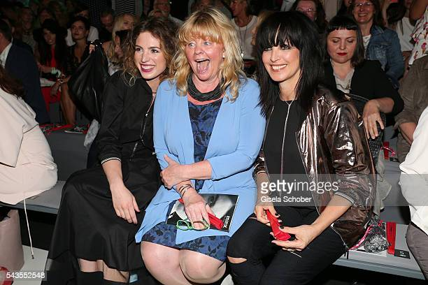 Larissa Kerner Inger Nilsson and Nena attend the Minx by Eva Lutz show during the MercedesBenz Fashion Week Berlin Spring/Summer 2017 at Erika Hess...