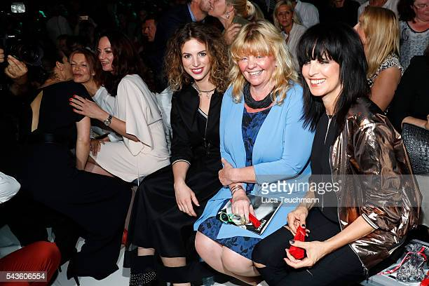 Larissa Kerner Inger Nilsson and Nena attend the Minx by Eva Lutz show during the MercedesBenz Fashion Week Berlin Spring/Summer 2017 at Erika Hess...