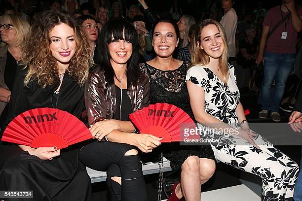 Larissa Kerner Nena Desiree Nosbusch and Luka TeresaGerda Kloser attend the Minx by Eva Lutz show during the MercedesBenz Fashion Week Berlin...