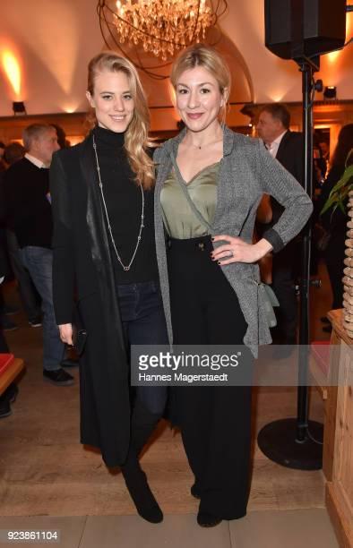 Larissa Marolt and Genija Rykova during the 40th anniversary celebration of the ZDF TV series SOKO Munich at Seehaus on February 24 2018 in Munich...