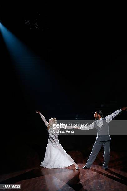 Larissa Marolt and Massimo Sinato perform during the 5th show of 'Let's Dance' on RTL at Coloneum on May 2 2014 in Cologne Germany