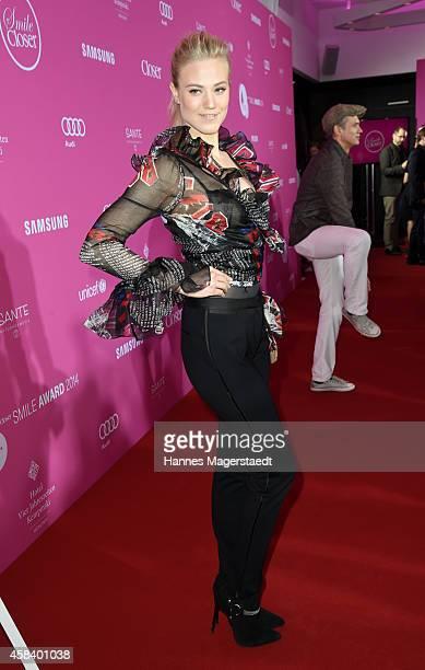 Larissa Marolt attends the 'CLOSER Magazin Hosts SMILE Award 2014' at Hotel Vier Jahreszeiten on November 4 2014 in Munich Germany