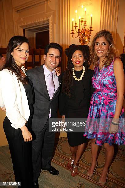 Larissa Martinez John Lloyd Young Valerie June and Carla Dirlikov attend the White House Turnaround Arts Talent Show 2016 at The White House on May...
