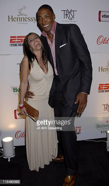 Larissa Pippen and Scottie Pippen during ESPN All Star Party at Tryst in Las Vegas February 16 2007 at Tryst The Wynn in Las Vegas Nevada United...