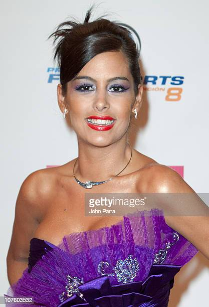 Larissa Riquelme arrives at the 8th Annual Premios Fox Sports Awards at Seminole Hard Rock Hotel on December 14 2010 in Hollywood Florida