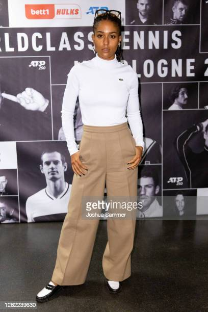 Larissa Sirah Herden alias Lary attends the BETT1HULKS Tennis Tournament Cologne at Lanxess Arena on October 25, 2020 in Cologne, Germany.