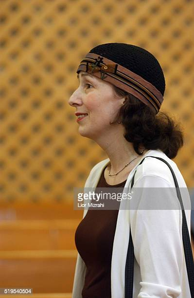 Larissa Trimbobler at the Israeli High Court of Justice in Jerusalem Wednesday July 28 2004 The High Court of Justice postponed Wednesday its ruling...