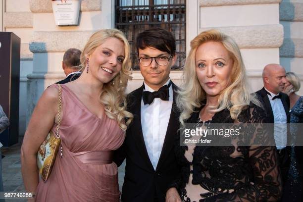 Larissa Weingaertner Bernhard Kleestorfer Lidia BeckaWeingaertner during the Fete Imperiale 2018 on June 29 2018 in Vienna Austria