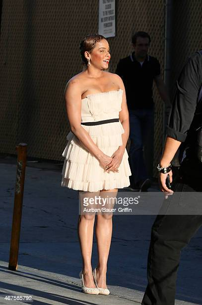 Lark Voorhies is seen in Hollywood on March 25 2015 in Los Angeles California