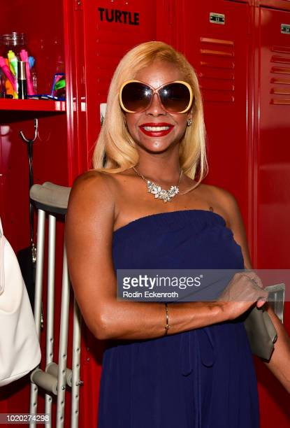 Lark Voorhies poses for portrait at The Max PopUp national Saved By The Bell Day celebration on August 20 2018 in West Hollywood California