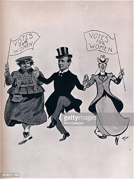 Larking with the Girls 1906 A cartoon featuring Prime Minister Asquith on the theme of women's suffrage Herbert Henry Asquith was a Liberal Prime...